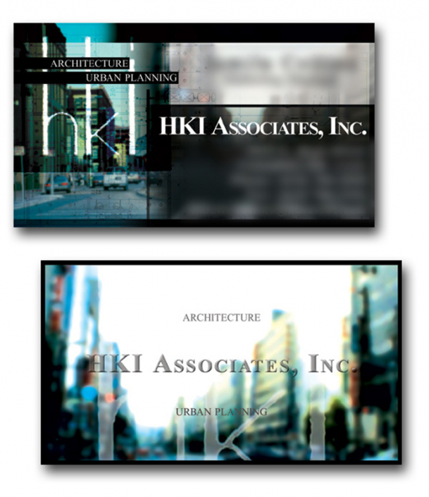 HKI Associates business card design