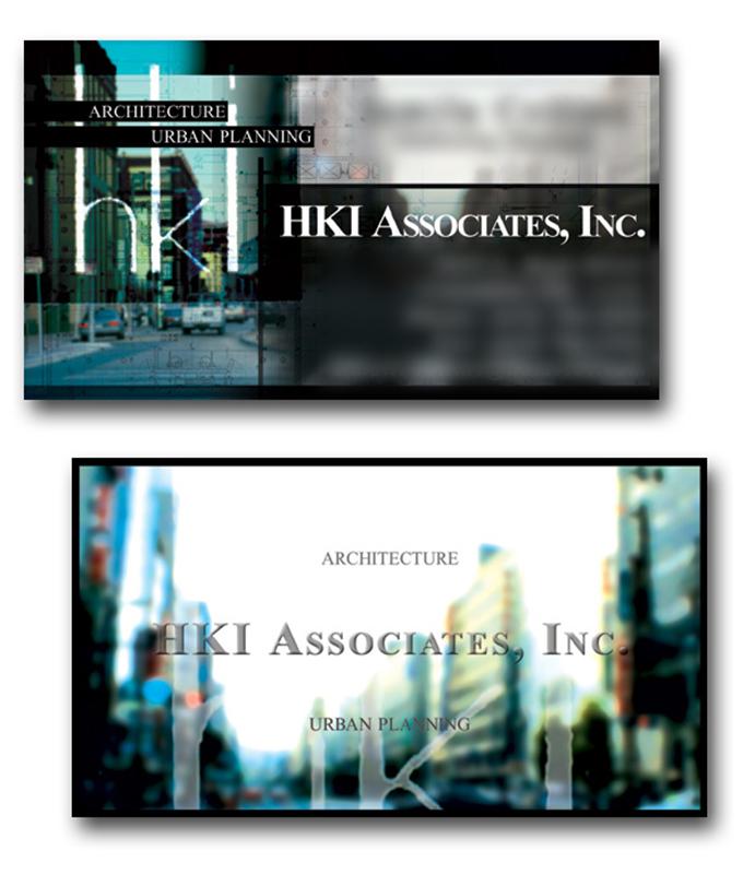 HKI Associates business card design