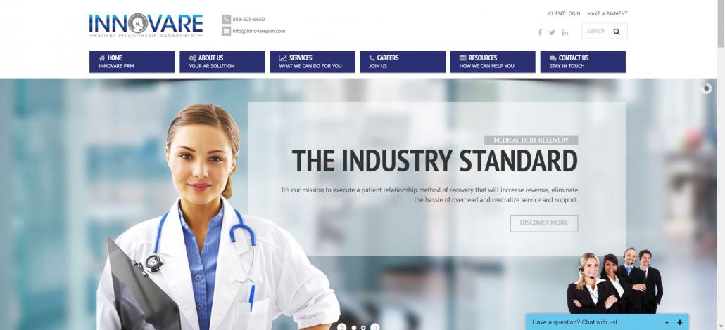 Innovare Patient Relationship Management website
