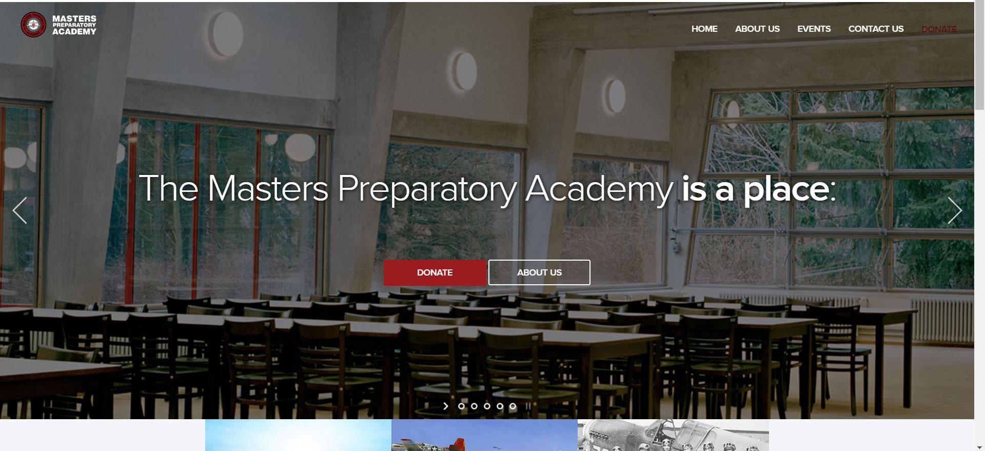 The Masters Preparatory Academy website