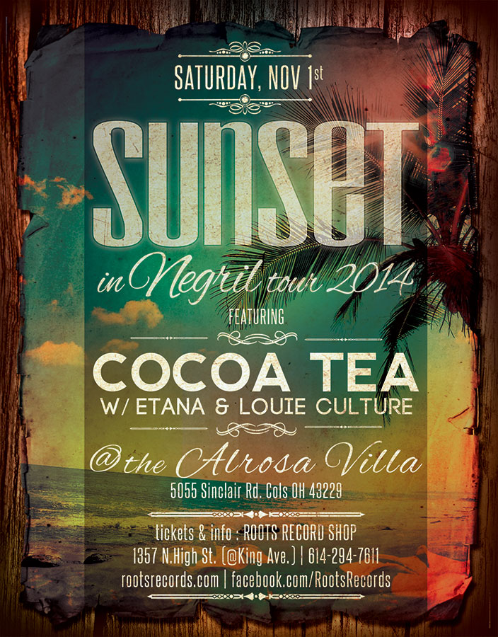 Sunset in Negril Tour flyer columbus ohio