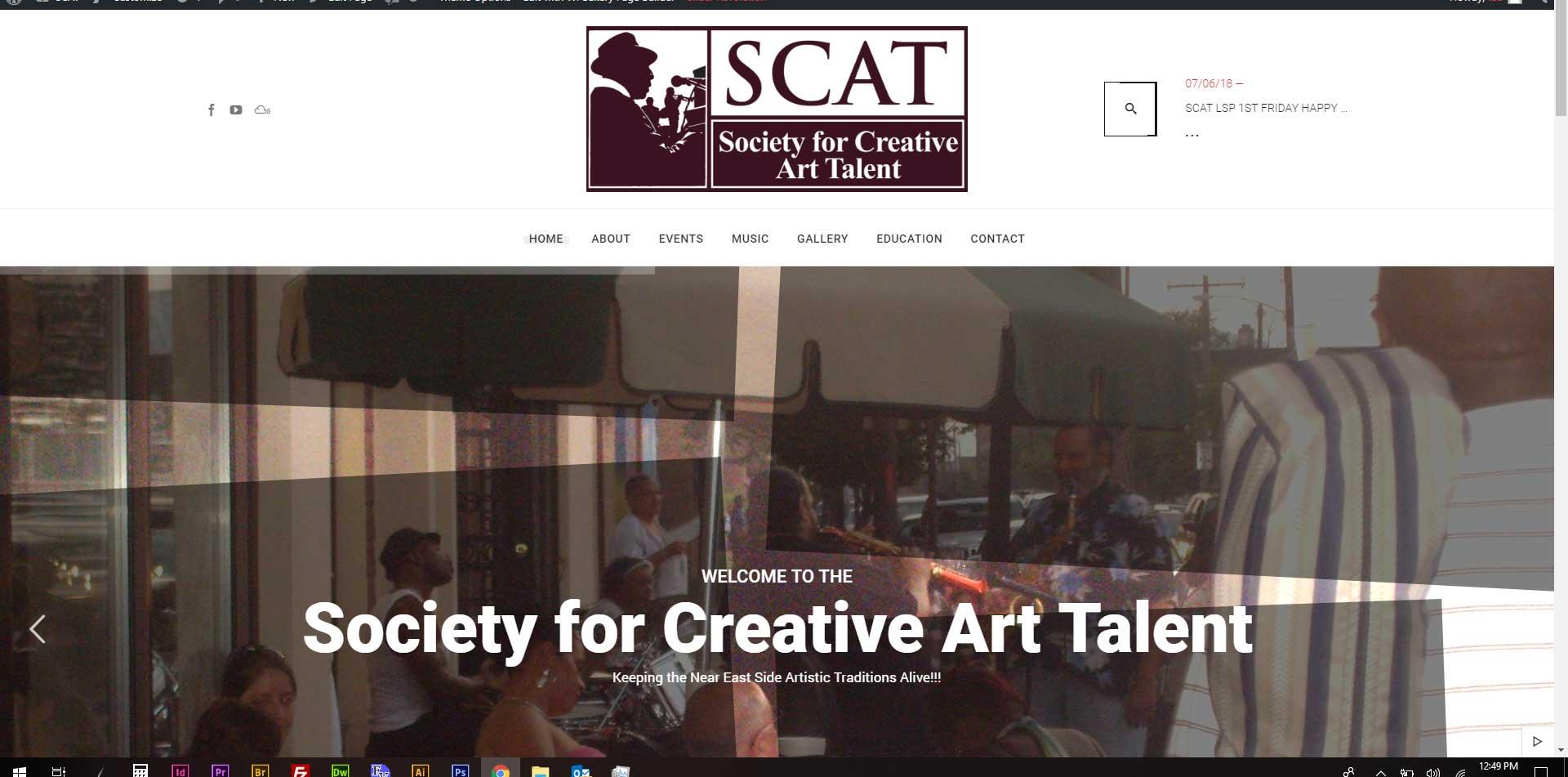 Society of Creative Art Talent website