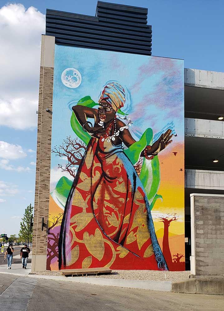 In Honor of Walt Neil Easton Town Center mural
