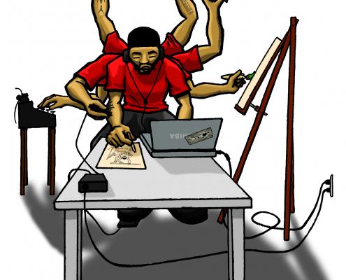 Many Many Many Jobs illustration
